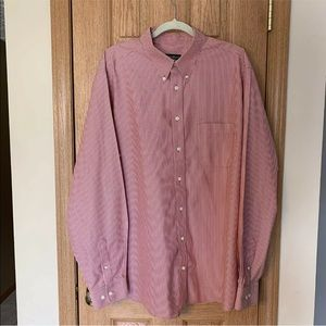 Wrinkle Resistant Relaxed Fit Button Down Shirt